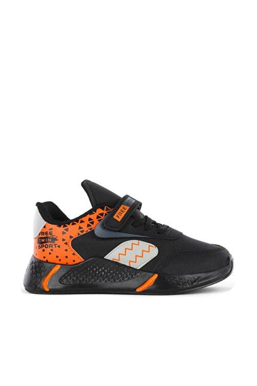 FREE MARKA Unisex Çocuk Siyah Turuncu Mevsimlik Ayakkabısı 1