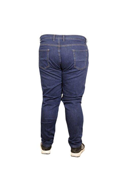 ModeXL Büyük Beden Erkek Pantolon Kot 20900 Lacivert 2