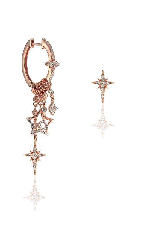 Söğütlü Silver Gümüş Kutup Yıldızı Modeli Şans Küpe 2