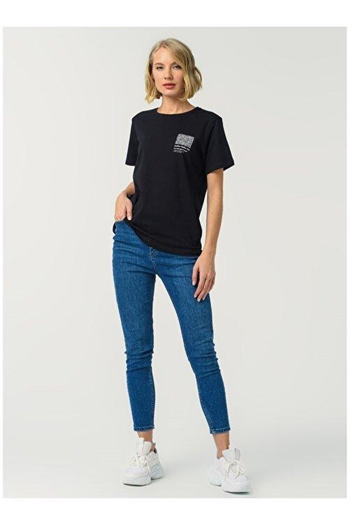 Fabrika Kadın Siyah Tişört 1