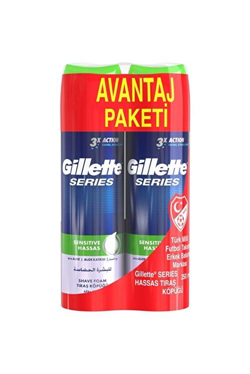 Gillette Series Milli Takım Özel Paketi 2'li Hassas 250 Ml + 250 Ml Tıraş Köpüğü 1
