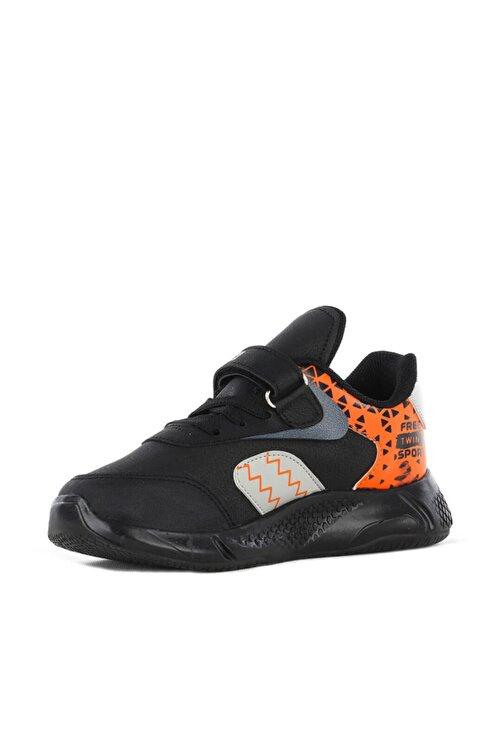 FREE MARKA Unisex Çocuk Siyah Turuncu Mevsimlik Ayakkabısı 2