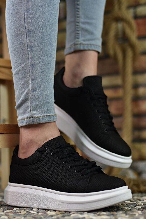 Riccon 3D Baskılı Siyah Erkek Sneaker 1