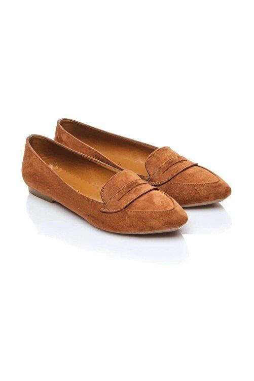 Shoes Time Taba Süet Kadın Babet 19Y 140 2