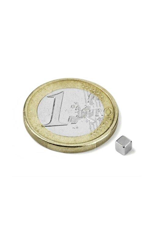 Dünya Magnet 100 Adet 3mm X 3mm X 3mm Küp Neodyum Mıknatıs - Çok Güçlü Mıknatıs 2