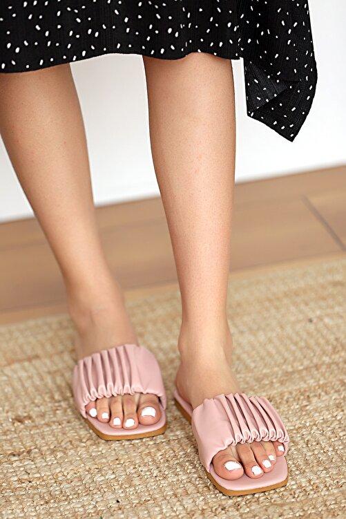 Pembe Potin Kadın Pudra Sandalet 1