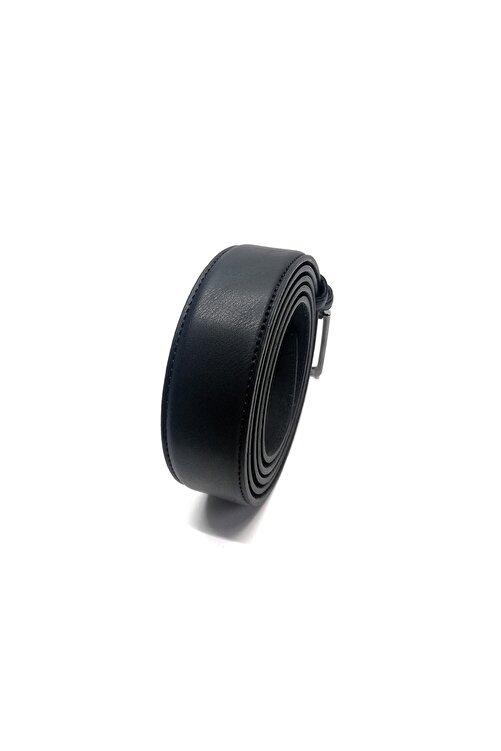 Cascades Leather Büyük Beden Mat Siyah 3.5 Cm Derili Damatlık Erkek Kumaş Pantolon Kemer 2