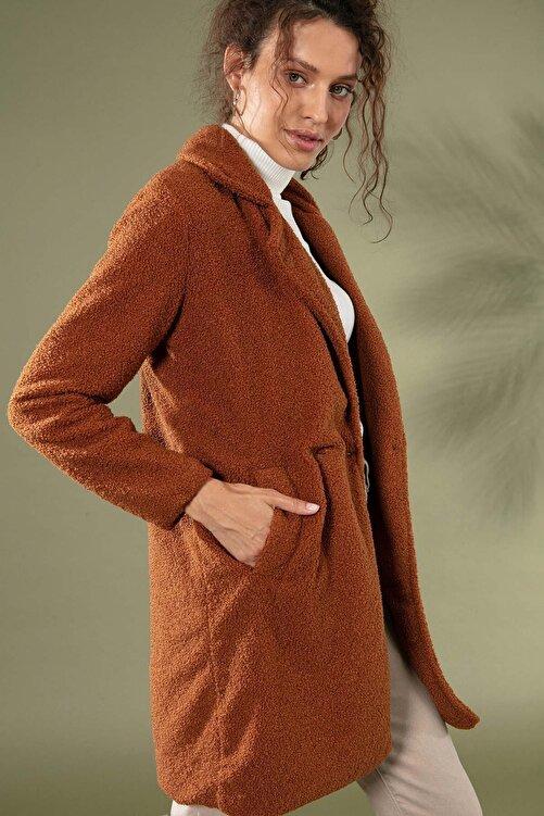 Pattaya Kadın Uzun Peluş Kuzu Ceket 10418 1