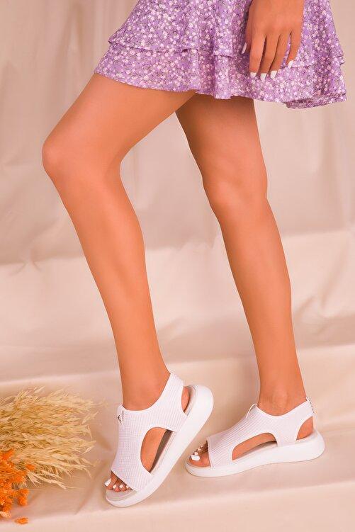 SOHO Beyaz Kadın Sandalet 16136 2