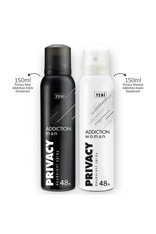 Privacy Man & Woman Addiction Erkek Ve Kadın Deodorant 2x150ml 2
