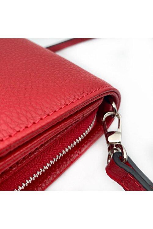 Eminsa Kırmızı Deri Telefon Omuz Çantası 2