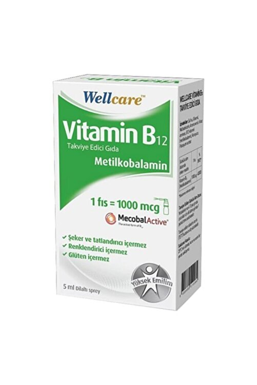 Wellcare Vitamin B12 1000 Mcg Sprey 5 ml 1