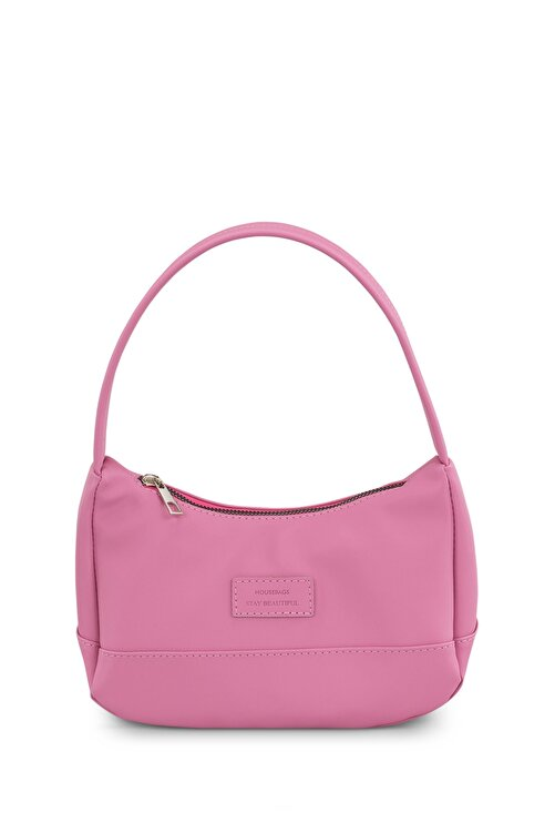 Housebags Kadın Pembe Baguette Çanta 197 1
