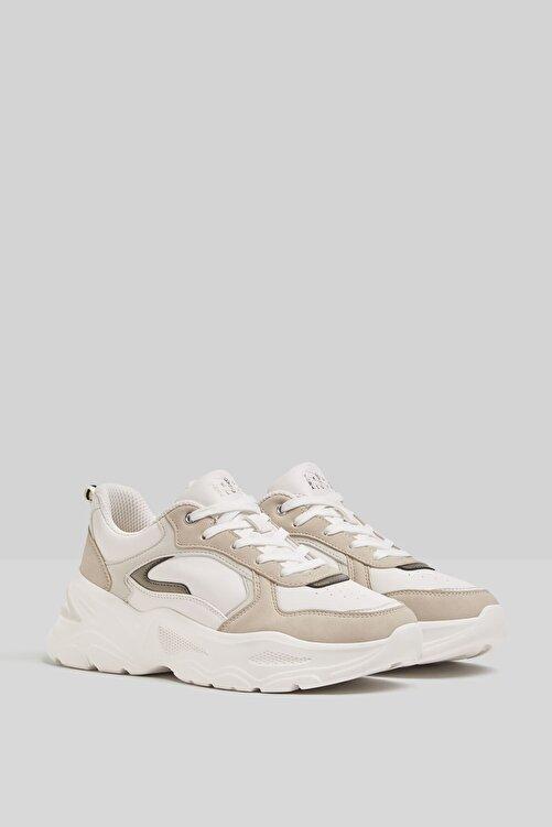 Bershka Kontrast Kalın Tabanlı Spor Ayakkabı 1