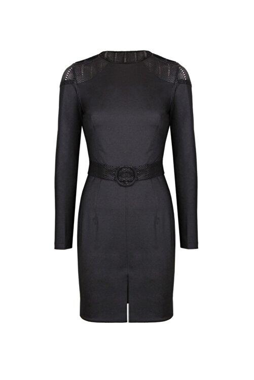 CEREN OCAK Kadın Siyah Sırt Detaylı Elbise 1