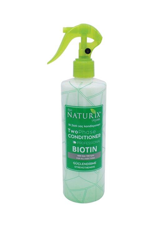 Naturix Bitkisel Profesyonel Biotin Bakım İki Fazlı Saç Açıcı Sprey Kondisyoneri Fön Suyu 400 ml 1