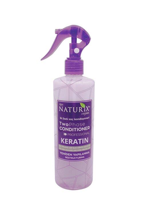 Naturix Zayıf Saçlar Keratin Bakım Iki Fazlı Sıvı Saç Kremi 400 ml Saç Kondisyoneri Fön Suyu Kolay Tarama 1