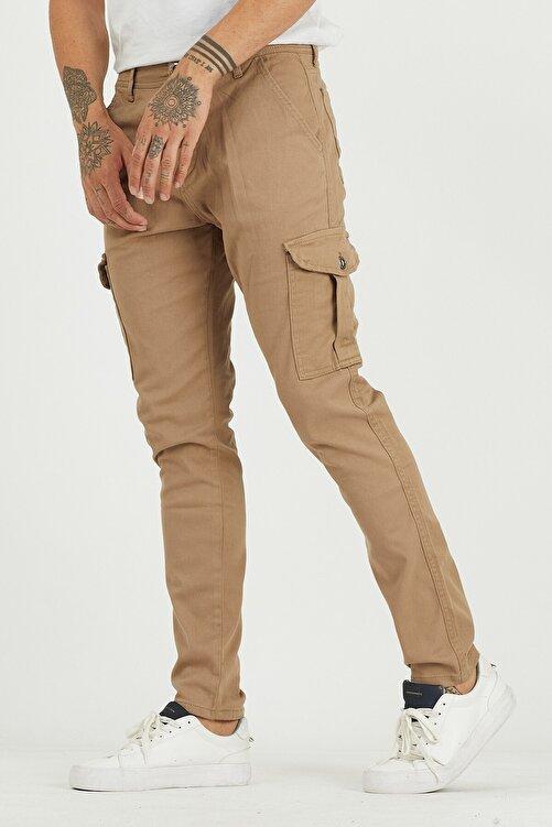 DAMGA JEANS Erkek Camel Kargo Cep Pantolon 2