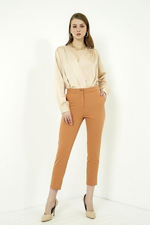 Vis a Vis Kadın Tarçın Klasik Düz Pantolon 2