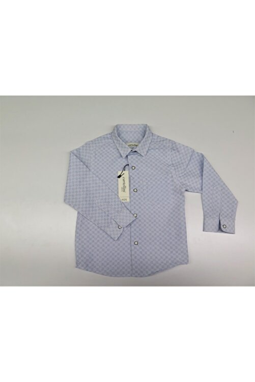 Cartellini Unisex Çocuk Mavi  Gömlek 1