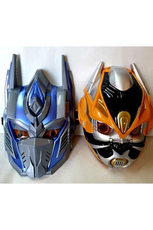 SUDEN Transformers Oyuncak Maske Optimus Bumblebee 2 Li Maske Seti Işıklı Sesli 1