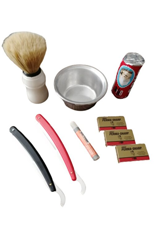 ARKO Tıraş Sabunu 9 Parça 2 Adet Ustura Kan Taşı Ve 15 Adet Perma Sharp Jilet 1