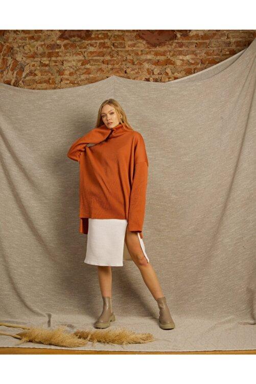 Eclectic Kiremit Boğazlı Bluz Elbise 2
