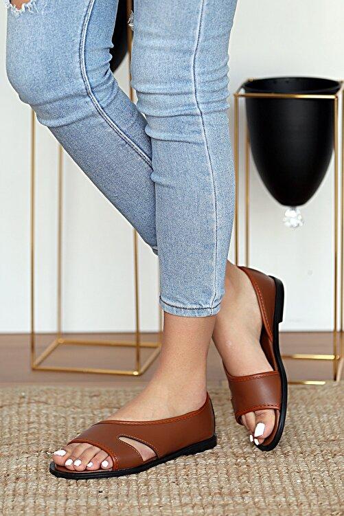 Pembe Potin Kadın Taba Sandalet 2