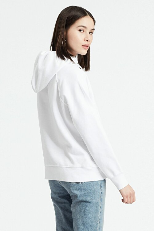 Levi's Kadın Beyaz Graphic Sport Hoodie Sweatshirt 35946-0100 2