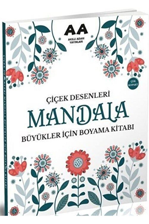 Akıllı Adam Yayınları Mandala Çiçek Desenleri Büyükler Için Boyama Kitabı 1