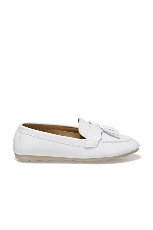 Miss F DS21007 1FX Beyaz Kadın Loafer Ayakkabı 101017821 2