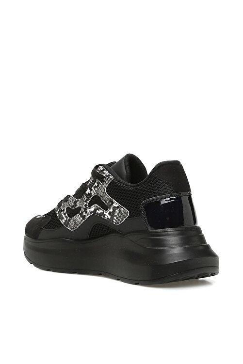 Dıvarese Yılan Baskı Siyah Sneaker 2