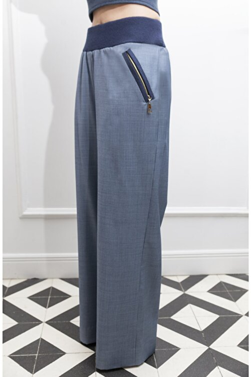 ÖZLEM AHIAKIN Cep Detaylı Bol Pantolon 1