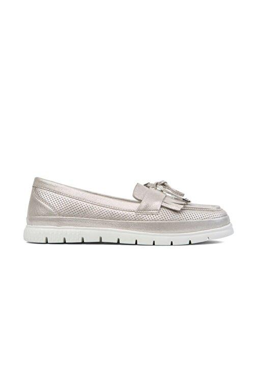 Greyder Kadın Gümüş Loafer Ayakkabı 0Y2CA29811 1
