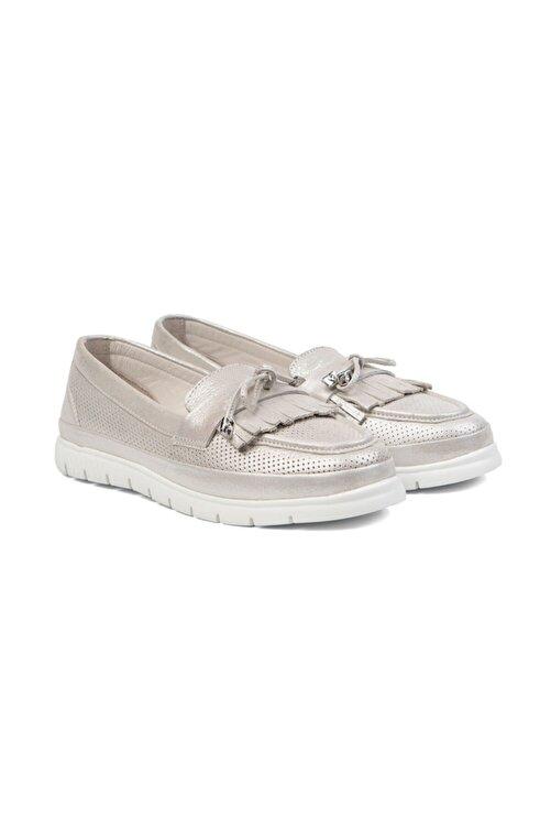 Greyder Kadın Gümüş Loafer Ayakkabı 0Y2CA29811 2