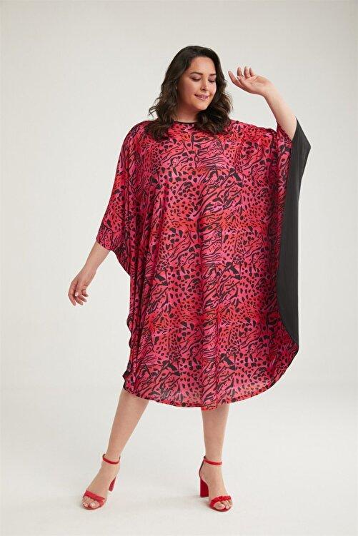 WANNA Kadın Baskılı Midi Elbise 2