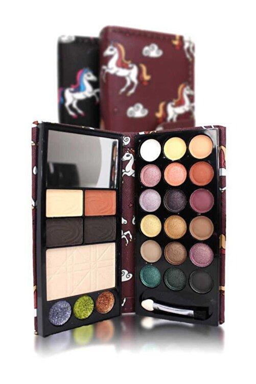 Makeuptime Cüzdan Far & Allık & Highlighter Aynalı 2 Katlı 1