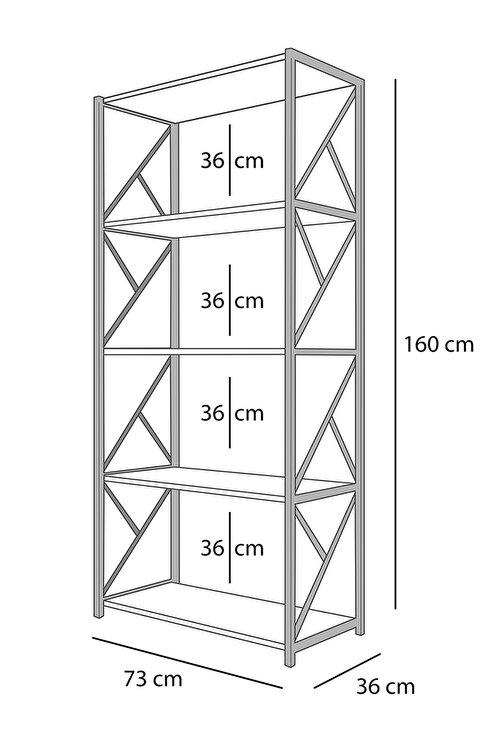Morpanya Metal Mutfak Rafı 5 Raflı Mutfak Düzenleyici Raf Mikrodalga Rafı Tencere Tabak Rafı Baharatlık 2