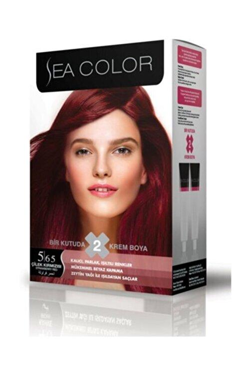 Sea Color 2'li Saç Boyası 5,65 Çilek Kızılı 1