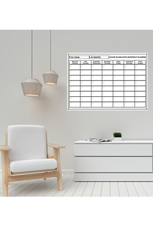 Inn Design Pack Planlayıcı Silinebilir Kağıt  50 x 70  + 4 Adet Tahta Kalemi 1