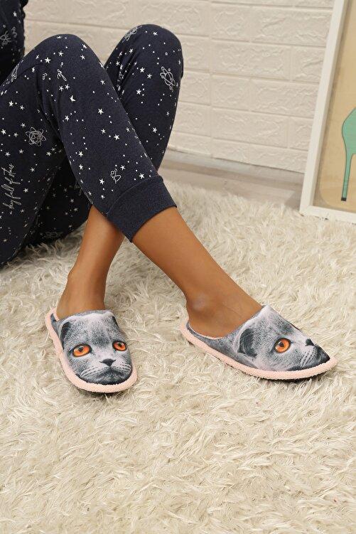 Ayakkabı Modası Kadın Gri Ev Terliği 2