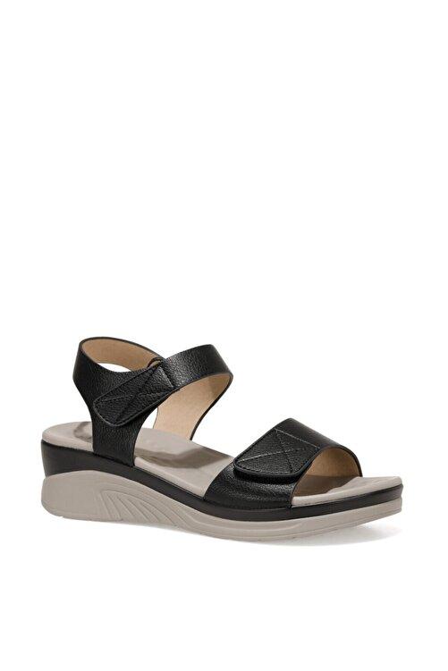 İnci CLINTTUN 1FX Siyah Kadın Kalın Tabanlı Sandalet 101027778 2