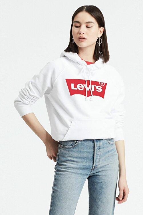Levi's Kadın Beyaz Graphic Sport Hoodie Sweatshirt 35946-0100 1