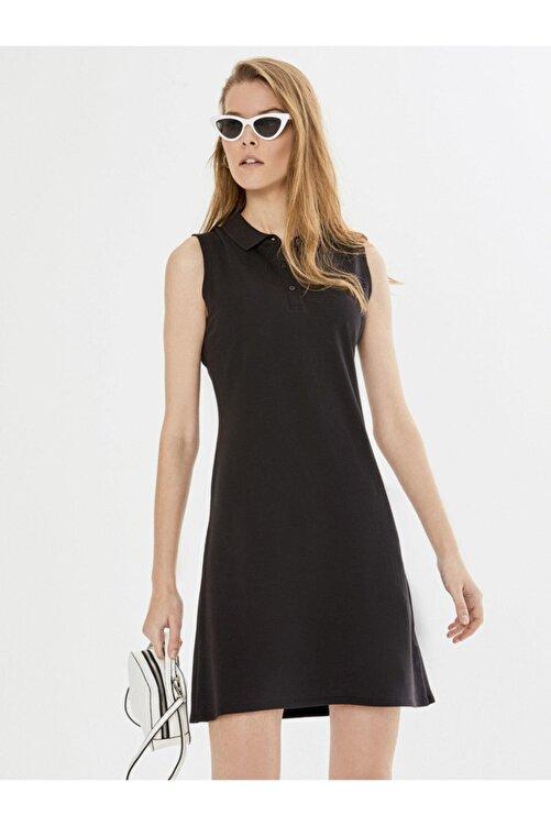 Xint Xınt Polo Yaka Kolsuz Pamuklu Basic Elbise 1