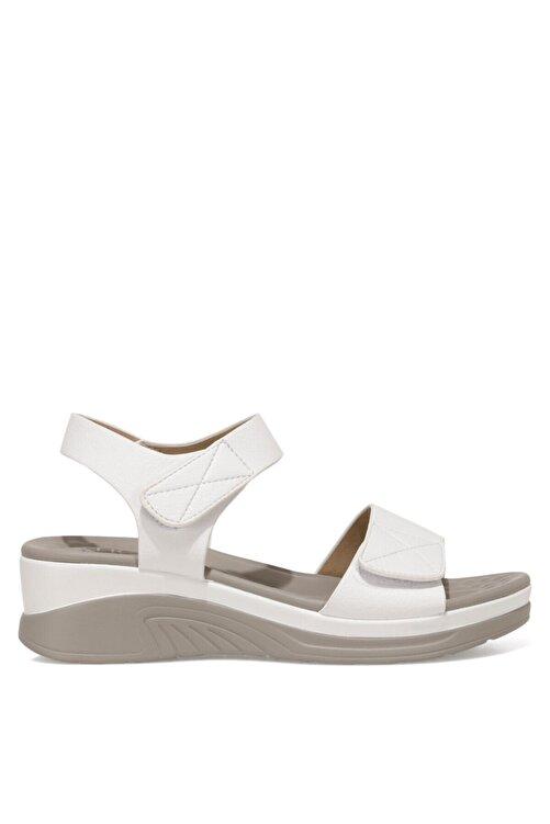 İnci CLINTTUN 1FX Beyaz Kadın Kalın Tabanlı Sandalet 101027779 1
