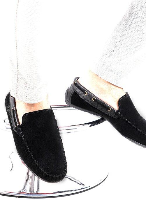 zincirport Erkek Siyah Süet Loafer Ayakkabı 2