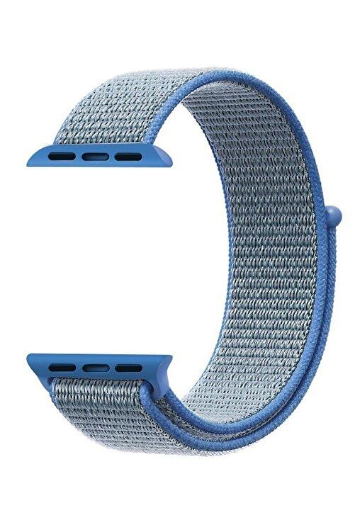 Robotekno Mavi Apple Watch Dokuma Kordon Kayış - 38mm 40mm 1