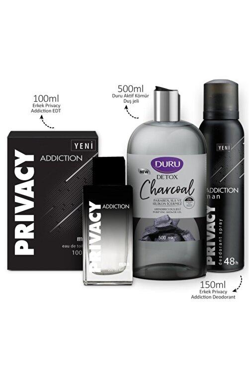 Privacy Addiction Edt 100 ml Erkek Parfüm + 150 ml Deodorant + 500 ml Duru Duş Jeli Set 1742751043447 2