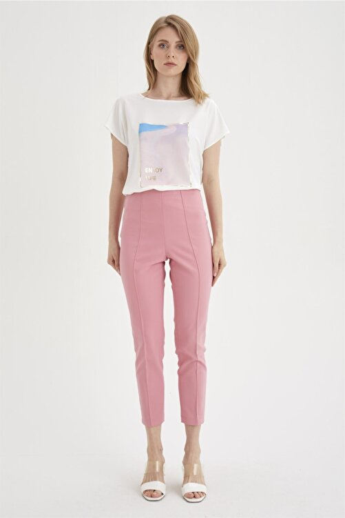 Chima Nervürlü Streç Pantolon 2