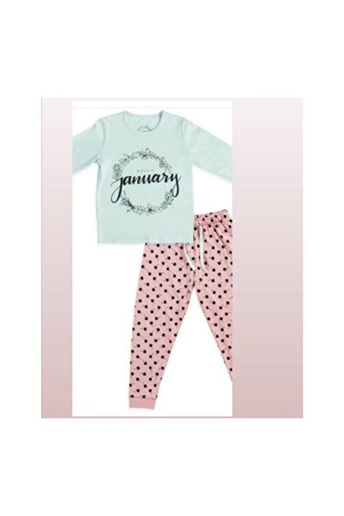 Katia&Bony Kız Çocuk Pijama Takımı Hello January 1